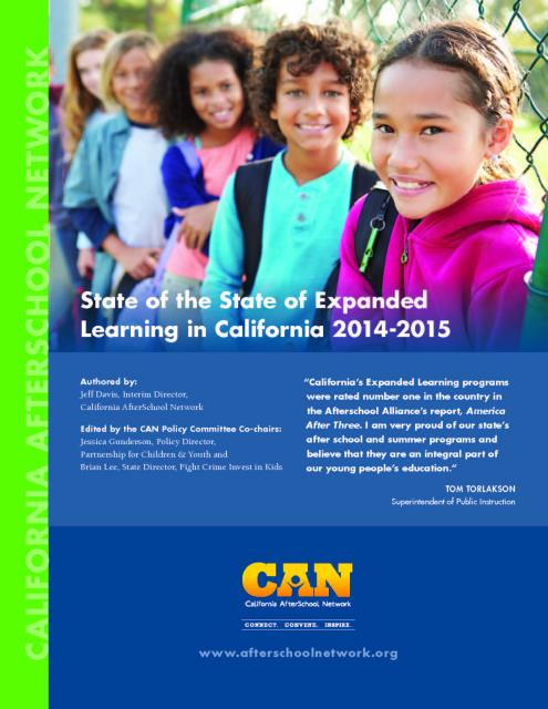 Image of Newly Released State of the State of Expanded Learning in CA 2014-2015