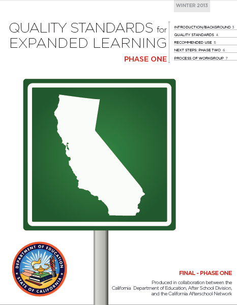 Image of Quality Standards for Expanded Learning Programs