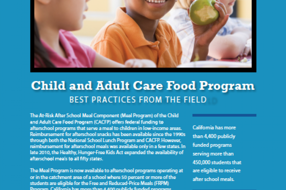 Image of After School Meal Program: Best Practices from the Field
