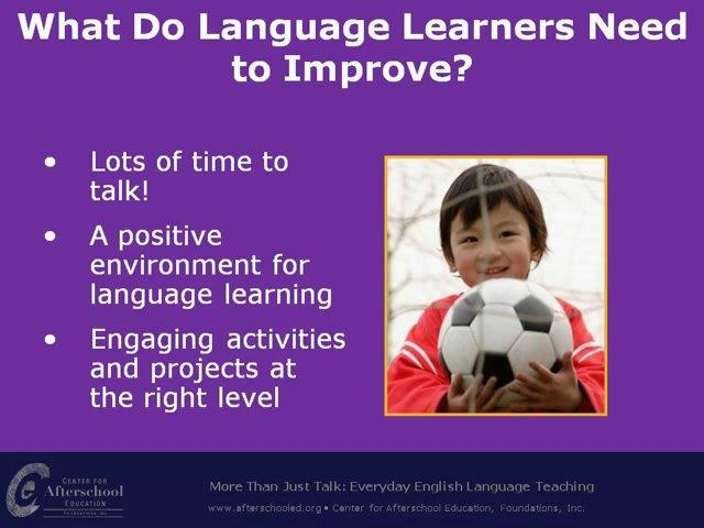 More than Just Talk: Everyday English Language Teaching
