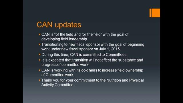 March 10, 2015 Nutrition and Physical Activity Committee Meeting Follow-Up