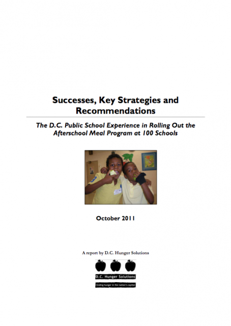 Image of The D.C. Public School Experience in Rolling Out the Afterschool Meal Program at 100 Schools