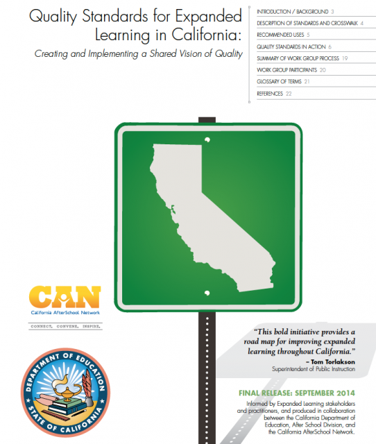 Image of Quality Standards for Expanded Learning in California