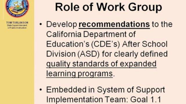 The Development of Quality Standards in California's Expanded Learning Programs