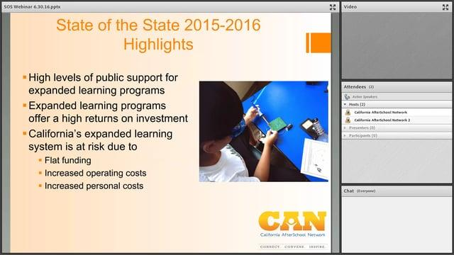 The State of the State of Expanded Learning in California 2015-16