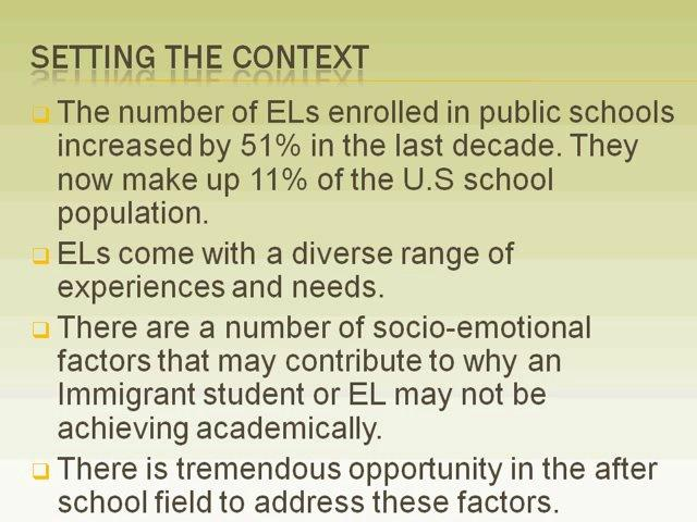 Free Webinar on Understanding and Meeting the Socio-Emotional Needs of English Learners