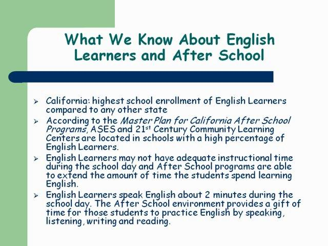 Effectively Supporting English Learners
