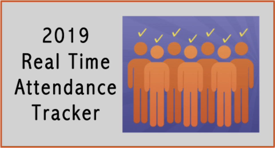 2019 Real Time Attendance Trackers Now Available