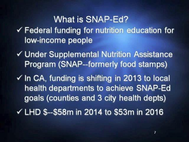 Partnering with Local Health Departments through SNAP-Ed