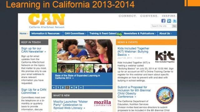The State of the State of Expanded Learning in California 2013-14