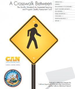 cover of A Crosswalk Between The Quality Standards for Expanded Learning and Program Quality Assessment Tools