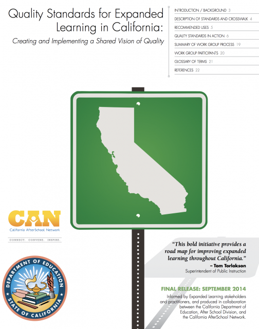 Cover of The Quality Standards for Expanded Learning in California