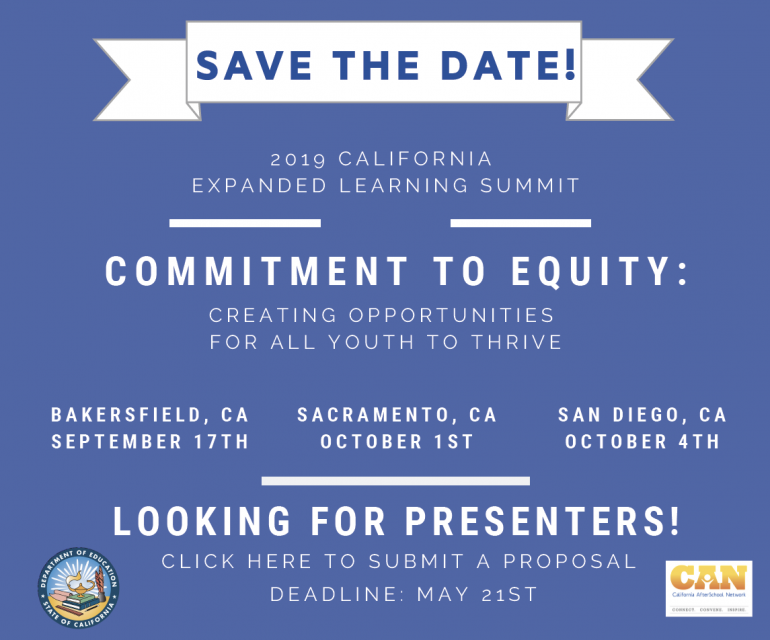 Deadline Extension: California Expanded Learning Summit RFP