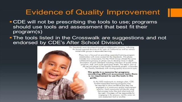 Evidence of Quality Improvement Mini-Webinar