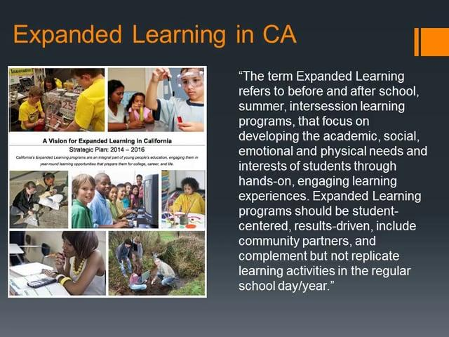 The State of the State of Expanded Learning in California 2014-15