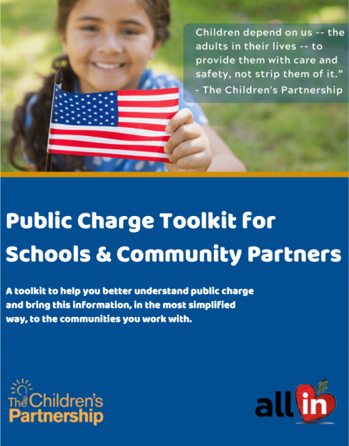Public Charge Toolkit for Schools & Community Partners Cover Page