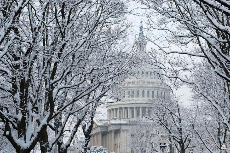 US Capitol Dome in Snow