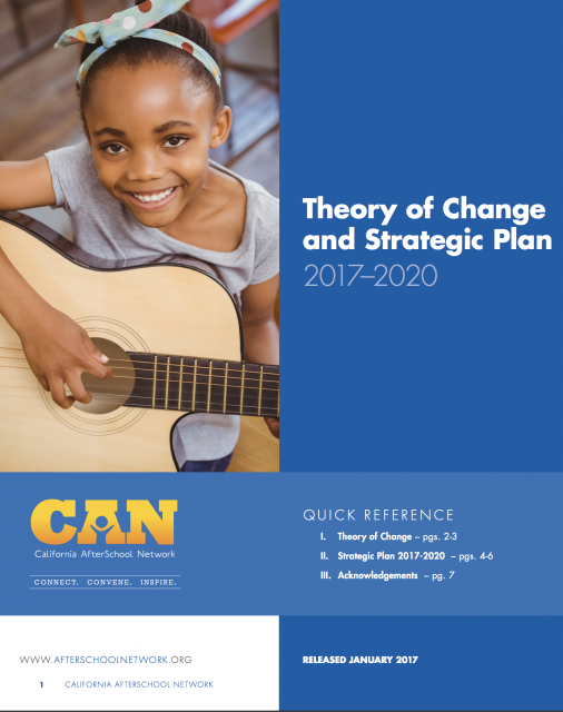 Cover of Theory of Change and Strategic Plan 2017-2020