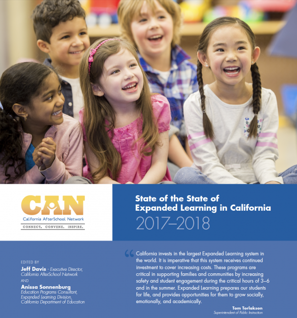 Cover of The State of the State of Expanded Learning in California 2017-18