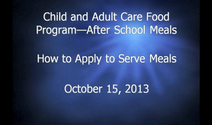 How to Apply to Serve Meals